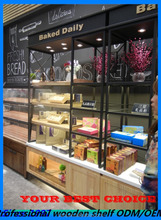 3 tier wall along bread bakery displays for gift