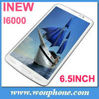 "inew i6000 MTK6589T 1.5GHz Android 4.2 1GB RAM 16GB ROM 6.5"" FHD Screen 1920*1080p Smart phone"