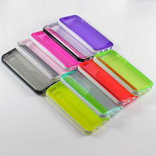 TPU Bumper Frame Back Cover Hard PC Case for iPhone 5C