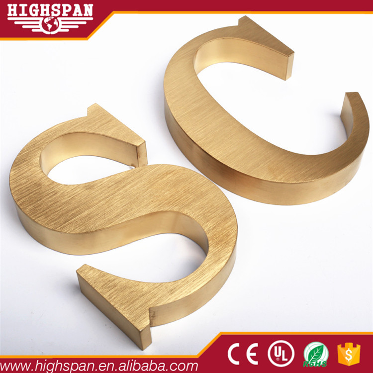 China manufacturer decorative aluminum metal letters and numbers