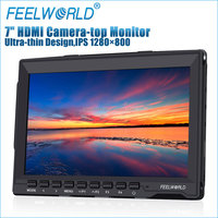 New Feelworld 7 inch Super Slim High Contrast 800:1 Camera Top Monitor 1280x800 Steadicam for DSLR