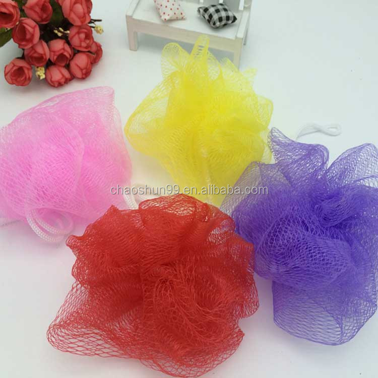 Hot sale cheapest mesh wash scrubbed bath sponge