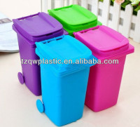 Wheelie bin Shape Plastic Mini Desk Pen Holder,waste bin