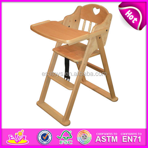 2017 New Fashion Baby High ChairSolid Wood High ChairHot Sale