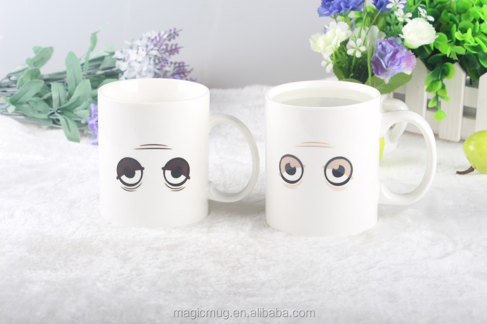Morning Wake Up Cute Ceramic Promotion Mug Color Changing Ceramic Coffee Mug