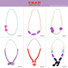 2017 Latest design silicone baby teething beads necklace