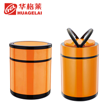 Hot sale white orange keep warm lunch box flask metal food container for kids