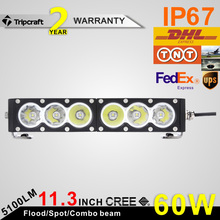 motor vehicle parts 60 W 11 inch 4x4 offroad led light bar with IP67 CE