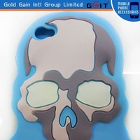 [GGIT] Silicon Halloween Skull Shape Mobile Phone Case for iPhone 5 5G Case Cover