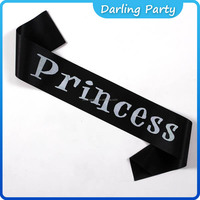 Sweet Princess sash for event party supplies wedding wrap