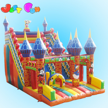 PVC inflatable slide inflatable fun city slide for party use minnie mouse inflatable slide