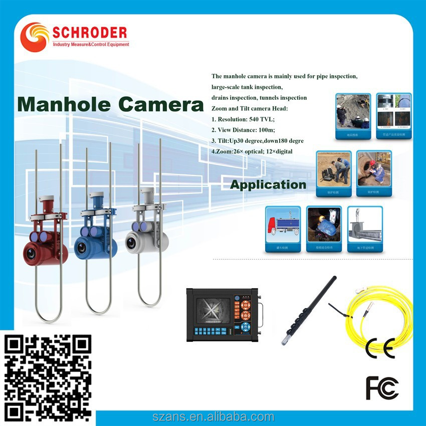 Self-Leveling Push Rod used sewer camera for sale,water pipe inspection camera,cctv camera for pumber