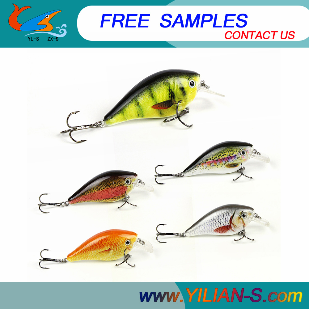 Free Fishing Tackle Samples 3.74inch 12.4g making hard Plastic lure 3D eyes fishing lures for freshwater tackle