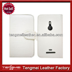 China manufacturer genuine simply flip leather case cover for nokia lumia 520