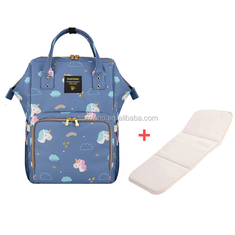 Sunveno Unicor Mummy Maternity Diaper Nappy Bag Organize Large Capacity Baby Bag Backpack Nursing Bag for Mother & Kids BabyCare