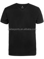 Mens black retro plain tee shirt