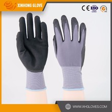 Nitrile dotted water based PU coated on palm working glove