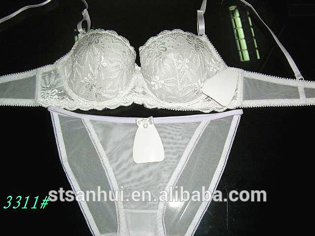 sexy and transparent bra set lace bar and bikini set