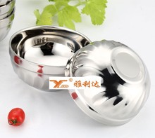 Cheap Healthy stainless steel fruit bowl rice bowls salad bowl