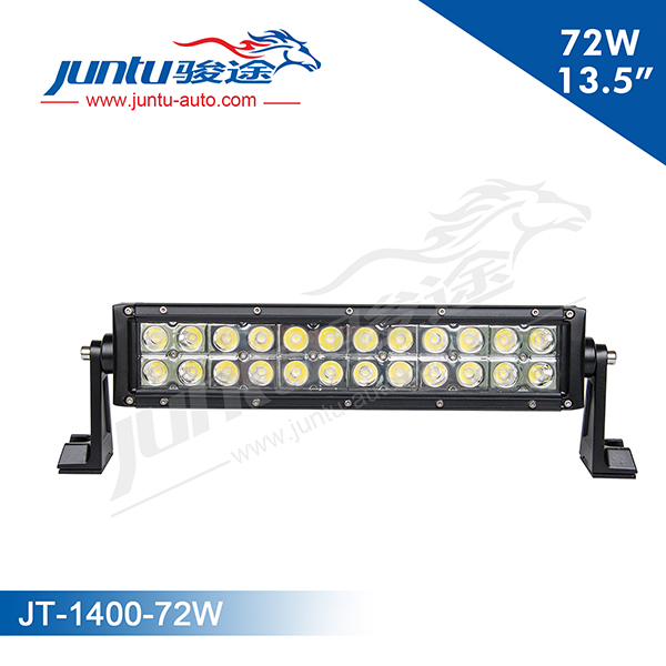 Juntu 13.5 Inch 72W CREE Curved LED Light Bar Double Row Light Bar