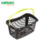 supermarket grocery store Ergonomically arc Shaped Eco friendly plastic Hand shopping basket basket