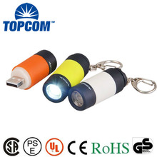 CE Certification ABS Colorful USB Rechargeable MINI LED Torch