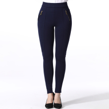 High quality knitting tight elastic office women pencil pants with zipper