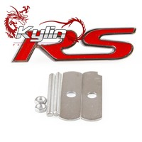 Kylin racing Car Rust-free Metal Alloy Front Grille Grill Badge Emblem Decals RS SI Logo Sticker