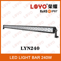 2014 Hot sale 240w offroad LED light bar, led light bar used on any vehicles, ATV, SUV, truck, led bar light