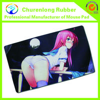 Anime sexy manga big boobs/butt girls gaming mouse mat/computer mouse pad