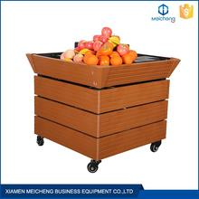 High grade steel heavy duty gondola fruit and vegetable display shelf