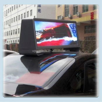 New Design Full color Double Side WIFI Wireless 12v LED Sign for Taxi Top
