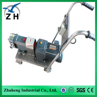 sanitary lobe pump for meat pastes industrial sparkling water pump