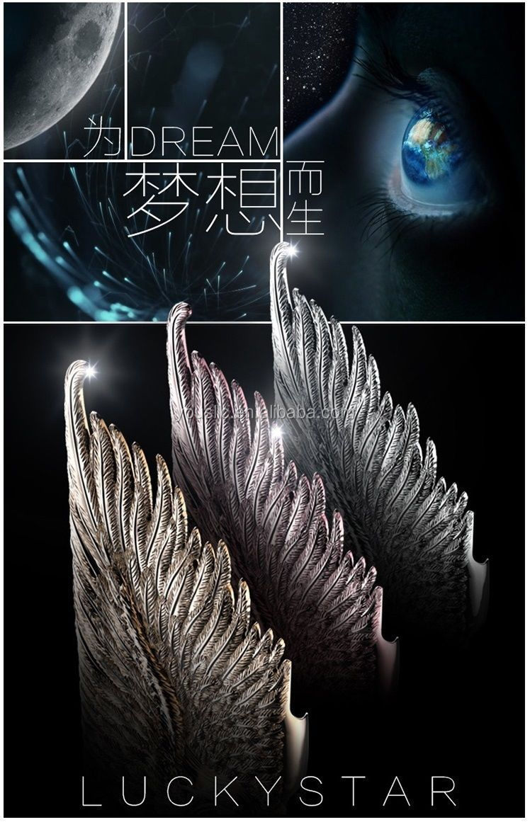 Luxury Hot Popular Fashion Angel Wings PC Hard Mobile Phone Case Cover For iPhone 6 6 plus