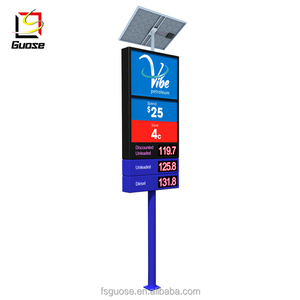 solar powered exit signs led gas price service station equipment