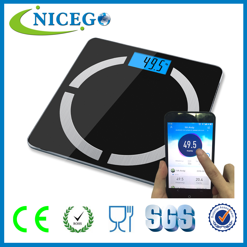 2016 Bluetooth Electronic Digital Bathroom Body Weighing Scale