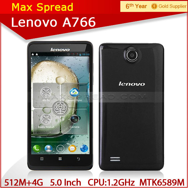 "5"" Android 4.2 MTK6589m Quad Core 512mb ram 4GB ROM gps 3g mobile phones mulit language lenovo a766"