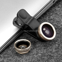 Universal 3 in 1 Clip-on lens for mobile phone Fish eye+0.65X Wide-angle+Macro lens for smart phone/pad/notebook PC/ip LQ-011