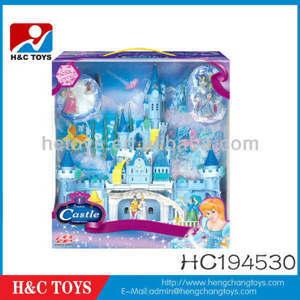 Voice&Touch Control Princess Castle toy Set ,Villa toy with light music,girls toy castle HC194052