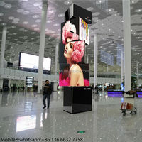 3d display board 360 degree spinning video movable led display