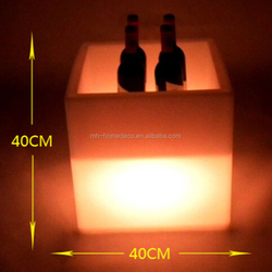 RGB Storage Cube Ottoman Battery Led Ice Cube