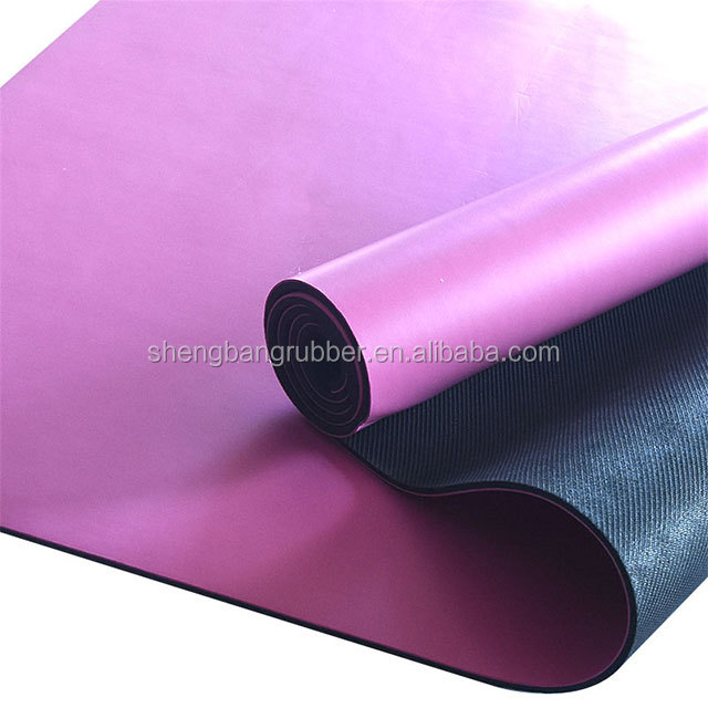 2018 customized <strong>eco</strong> friendly anti slip natural rubber custom printed PU yoga mats
