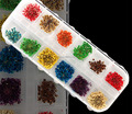 H1-033 12COLORS LACE DRY FLOWER ,Real dry flower