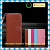 Wallet Case Layered Dandy 2 in 1 style Brown Strong Magnet Back Cover