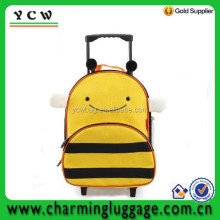 Cute cartoon kids trolley school bag backpack luggage