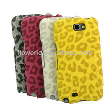 FL720 high quality Leopard Flip Leather Case Stand Watllet Cover for Samsung Galaxy Note 2 for N7100 case