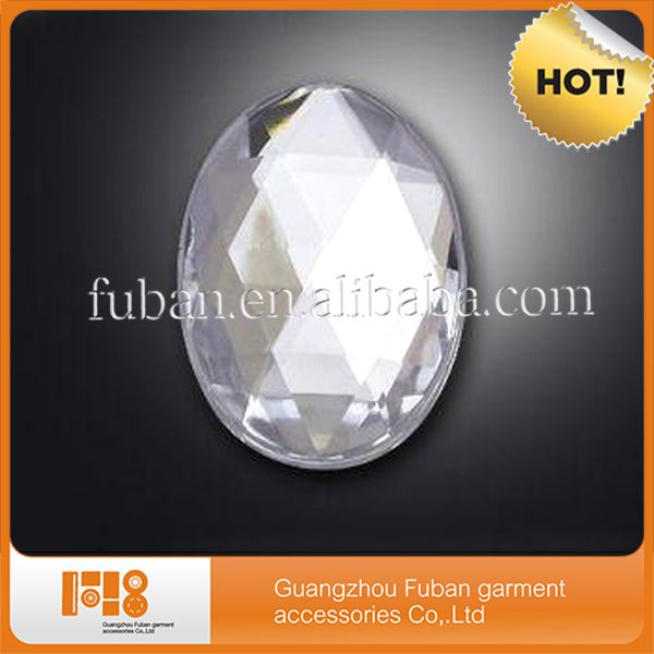 wholesale top quality oval acrylic crystal bead