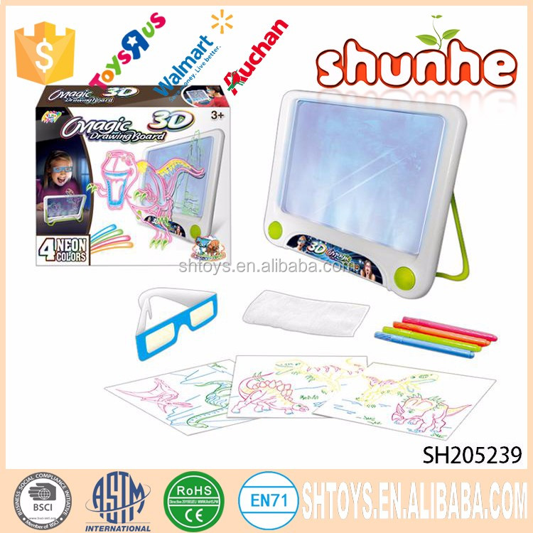 2017 hot selling item dinosaur electric 3D kids drawing board