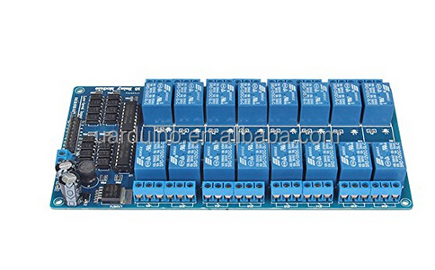16 channel relay module with optocoupler protections microcontroller expansion board