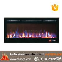 "Newest 50"" recessed decor flame electric fireplace"